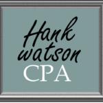 Hank Watson, CPA sign